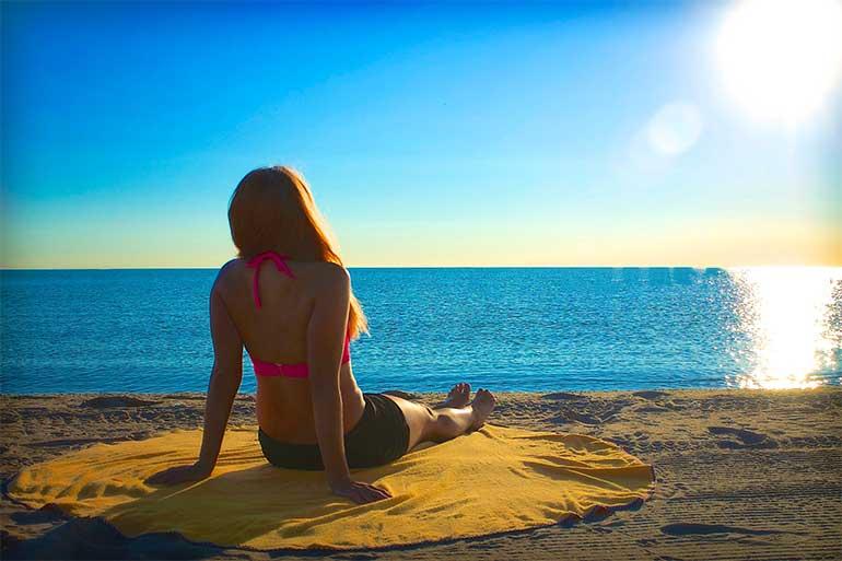Woman-sunbathing